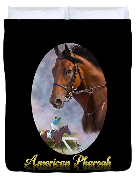 American Pharoah Framed Duvet Cover