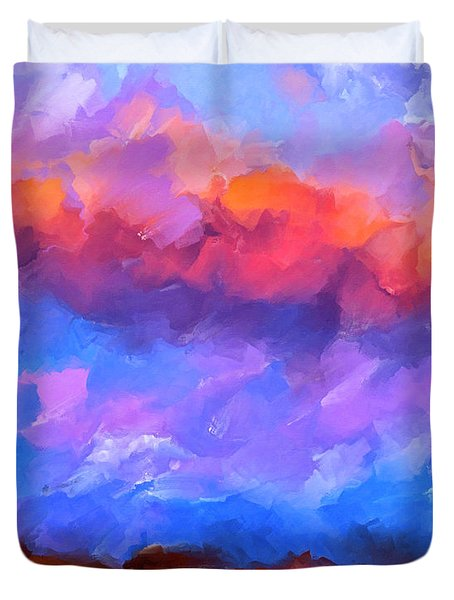Duvet Cover featuring the mixed media Boundless Dreams by Mark Tisdale