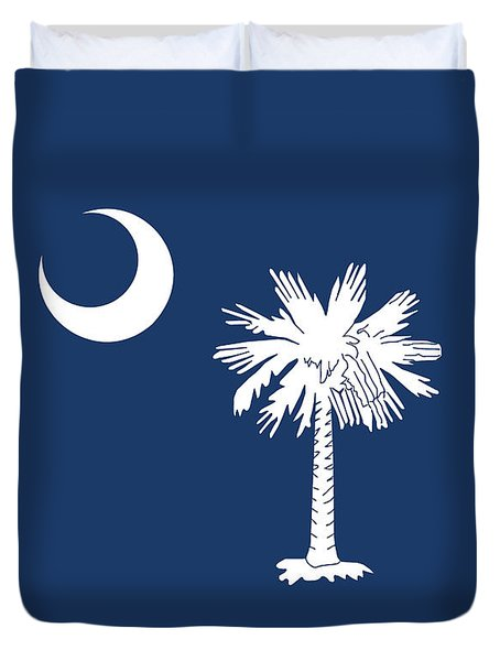 Duvet Cover featuring the digital art Flag Of South Carolina Authentic Version by Bruce Stanfield