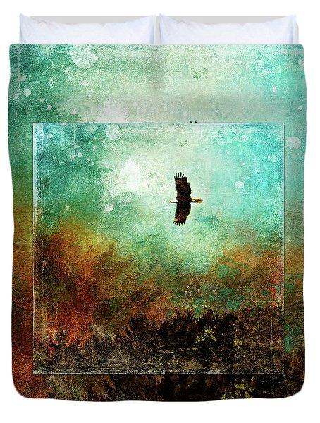 Treetop Eagle Flight Duvet Cover