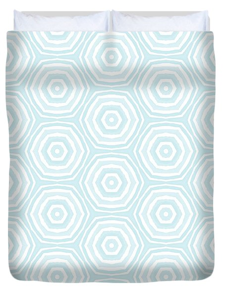 Dip In The Pool -  Pattern Art By Linda Woods Duvet Cover