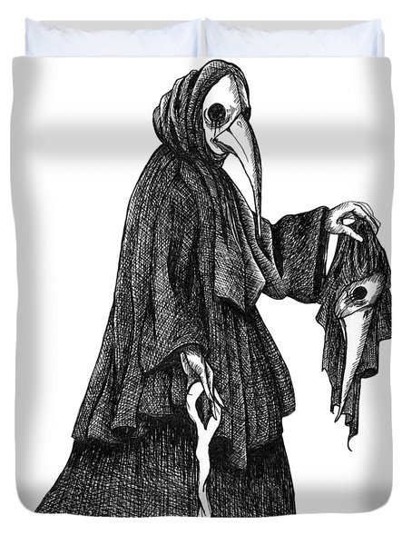 Plague Doctor Duvet Cover