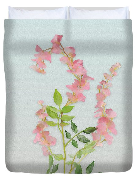 Pink Tiny Flowers Duvet Cover