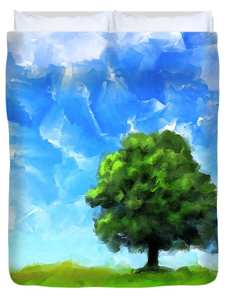 Solitude - Lone Tree Landscape Duvet Cover by Mark Tisdale
