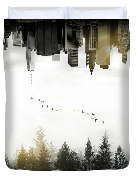 Duvet Cover featuring the photograph Duality by Nicklas Gustafsson