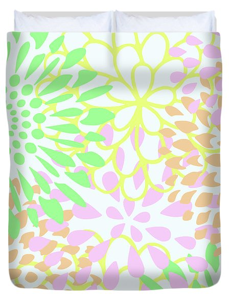 Pretty Pastels Duvet Cover by Inspired Arts