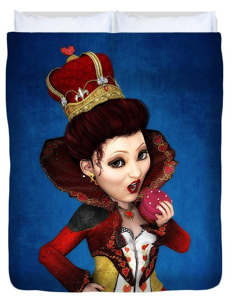Queen Of Hearts Portrait Duvet Cover