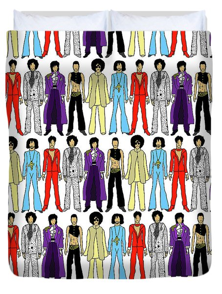 Outfits Of Prince Duvet Cover