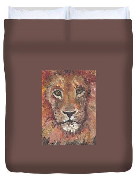 Lion Duvet Cover by Jessmyne Stephenson