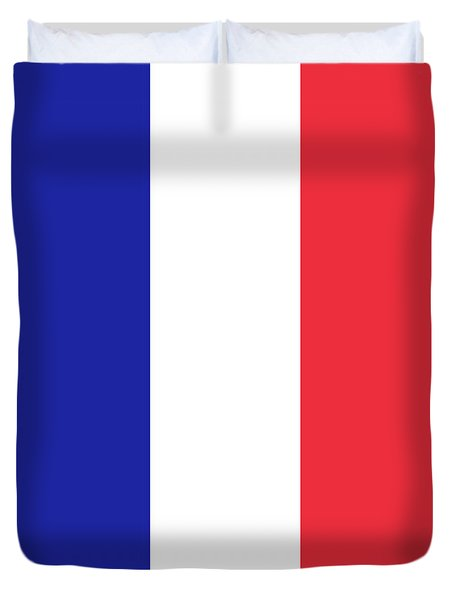 Duvet Cover featuring the digital art Flag Of France High Quality Authentic Image by Bruce Stanfield