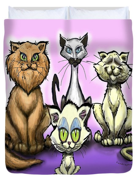 Cats Duvet Cover by Kevin Middleton