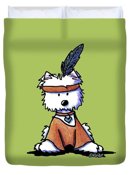 Westie Pocahontas Duvet Cover by Kim Niles