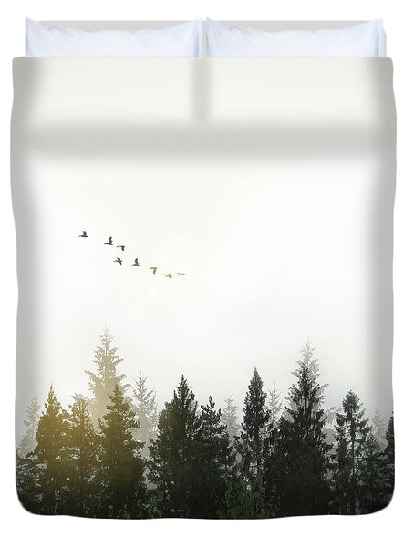 Duvet Cover featuring the photograph Forest by Nicklas Gustafsson