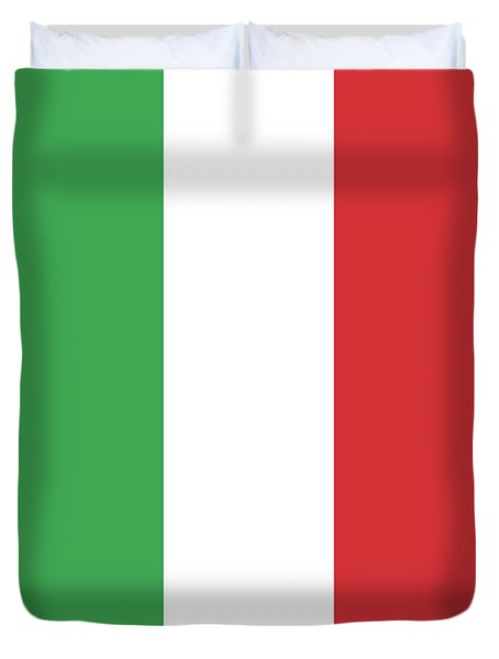 Duvet Cover featuring the digital art Flag Of Italy by Bruce Stanfield