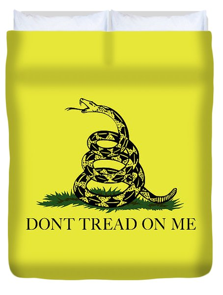 Gadsden Dont Tread On Me Flag Authentic Version Duvet Cover