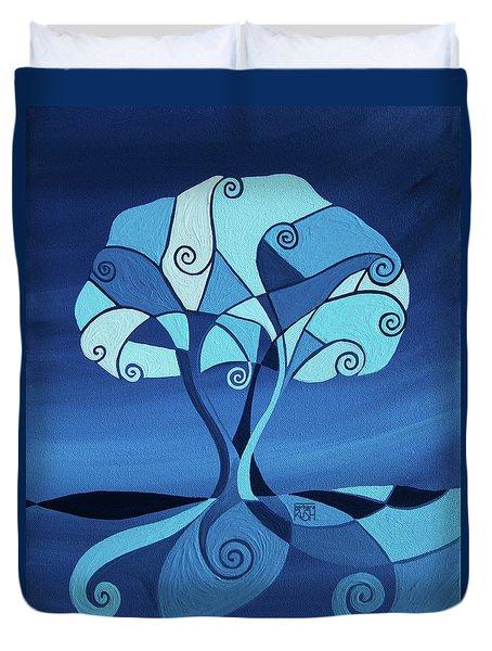 Enveloped In Blue Duvet Cover