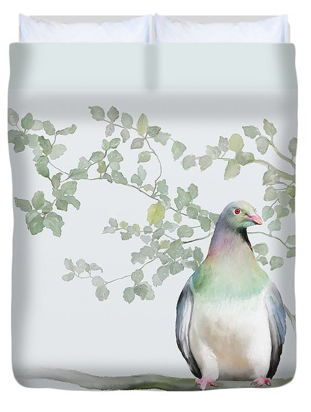Wood Pigeon Duvet Cover