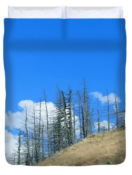 At The End Of The World Duvet Cover