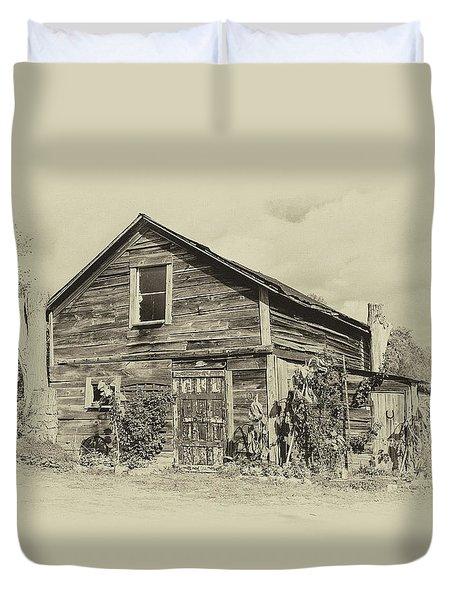 Harvest Moon Farm - Sepia Duvet Cover