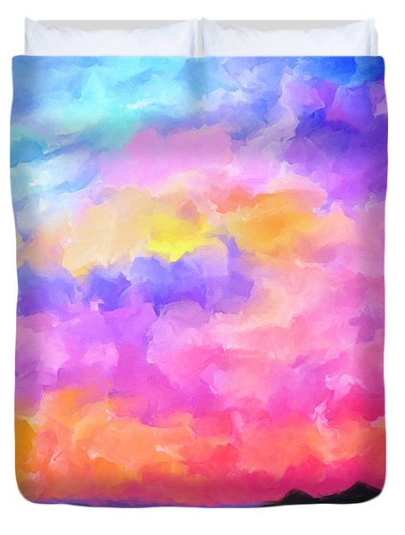Sunset Serenade Memories Duvet Cover by Mark Tisdale