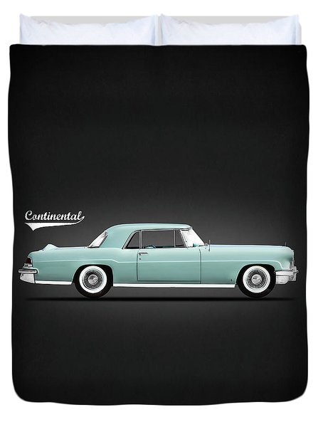 Lincoln Continental Mk2 1956 Duvet Cover