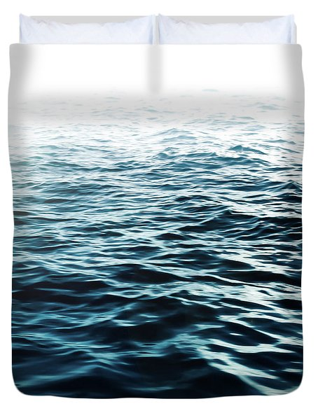 Duvet Cover featuring the photograph Blue Sea by Nicklas Gustafsson