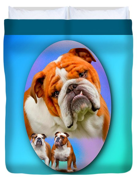 English Bulldog- No Border Duvet Cover