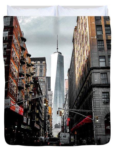 Lower Manhattan One Wtc Duvet Cover