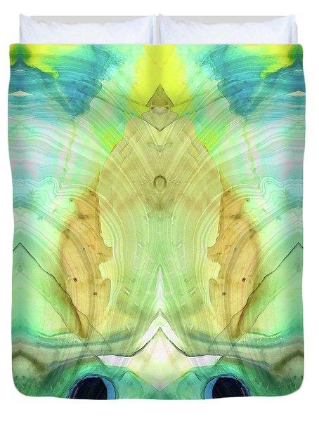 Abstract Art - Calm - Sharon Cummings Duvet Cover