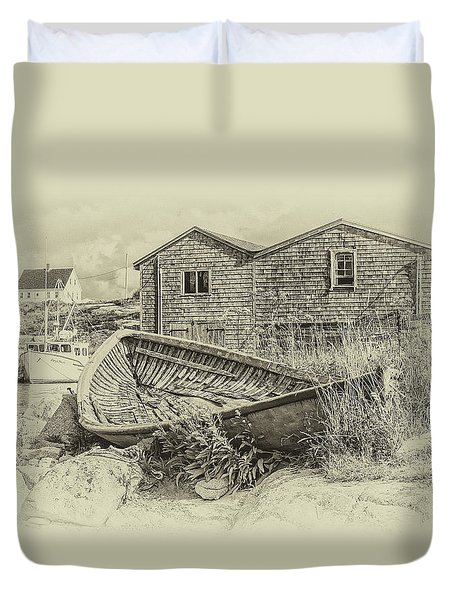 Peggy's Cove, Nova Scotia Duvet Cover