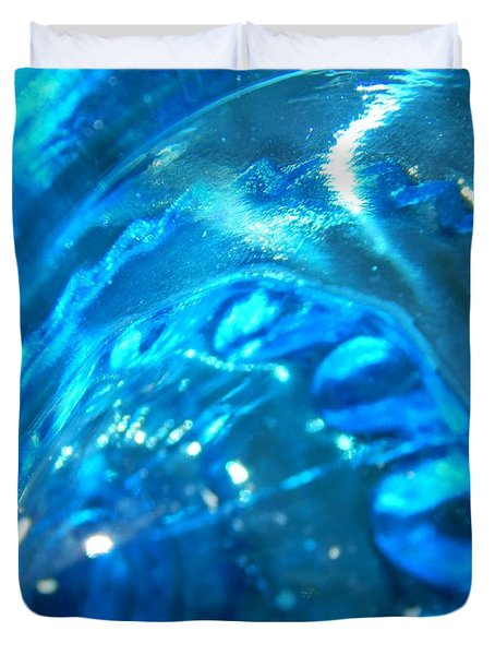 The Beauty Of Blue Glass Duvet Cover