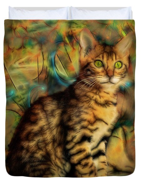 Bengal Kitten Duvet Cover