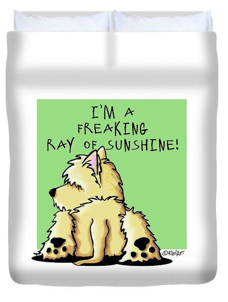 Cairn Terrier Sunshine Duvet Cover by Kim Niles