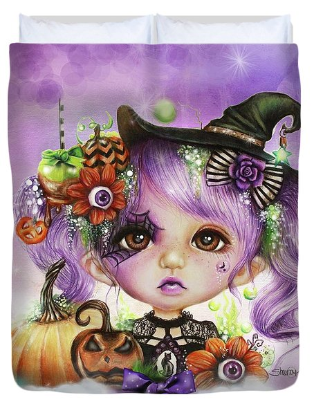 Halloween Hannah - Munchkinz Character  Duvet Cover by Sheena Pike