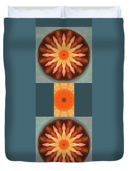 Pumpkin Mandala -  Duvet Cover