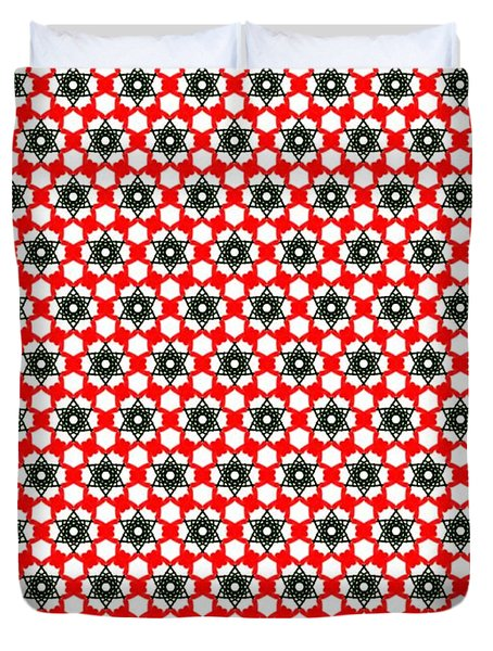Christmas Paper Pattern Duvet Cover