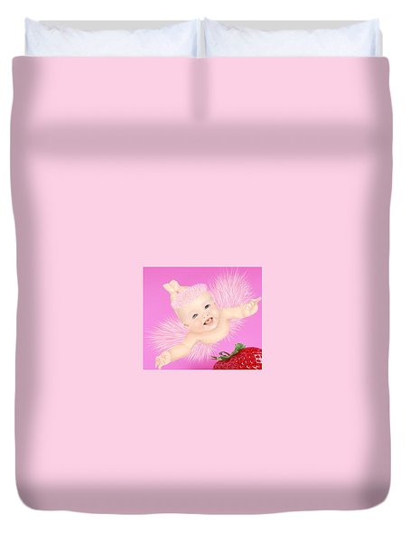Magic Baby Face-pink Angle Duvet Cover