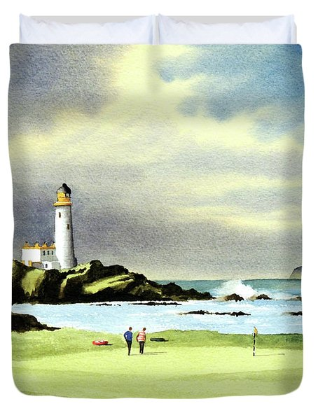 Turnberry Golf Course Scotland 10th Green Duvet Cover