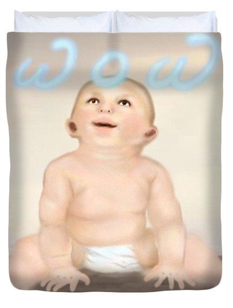 magic baby face-WOW Duvet Cover