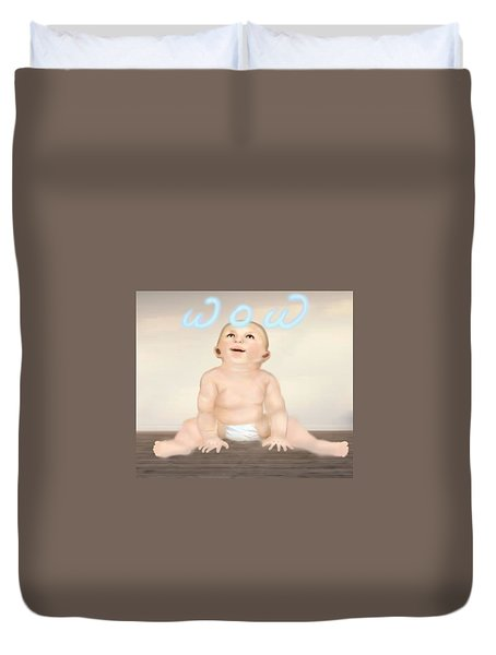magic baby face-WOW Duvet Cover