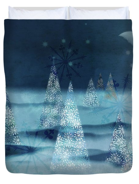 Winter Night Duvet Cover by AugenWerk Susann Serfezi