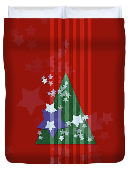 Stars And Stripes - Christmas Edition Duvet Cover by AugenWerk Susann Serfezi