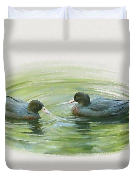 Blue Ducks  Duvet Cover