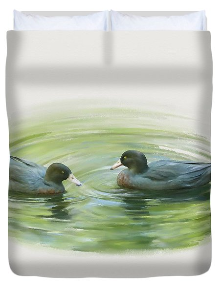 Blue Ducks  Duvet Cover
