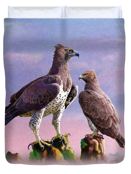 Martial Eagles Duvet Cover