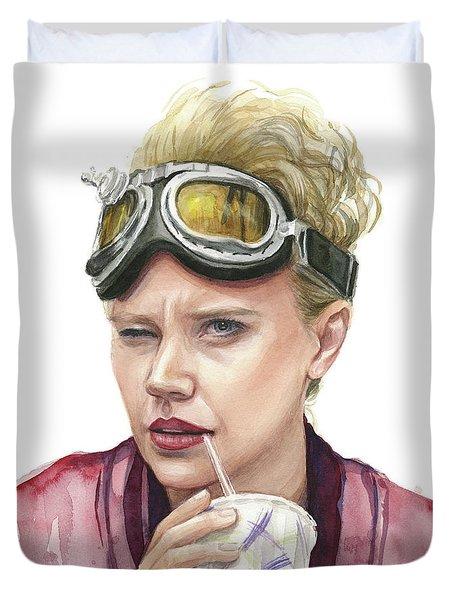 Jillian Holtzmann Ghostbusters Portrait Duvet Cover