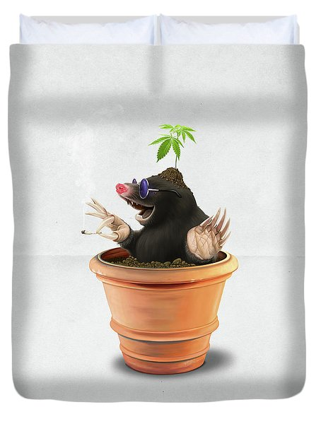 Pot Wordless Duvet Cover by Rob Snow