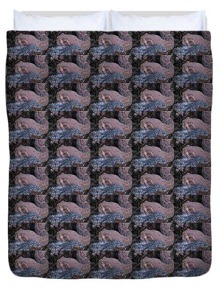 Rattlesnake Portrait Duvet Cover