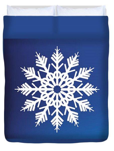 Snowflake Blue  Duvet Cover