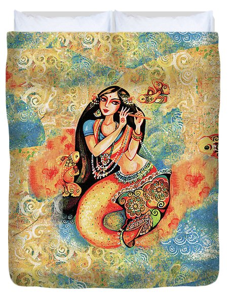 Aanandinii And The Fishes Duvet Cover